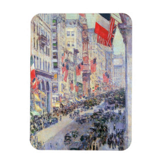 Up the Avenue from 34th Street by Childe Hassam Magnet