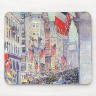 Up the Avenue from 34th Street by Childe Hassam Mouse Pad