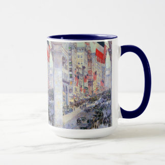 Up the Avenue from 34th Street by Childe Hassam Mug