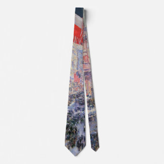 Up the Avenue from 34th Street by Childe Hassam Neck Tie