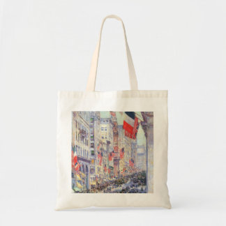 Up the Avenue from 34th Street by Childe Hassam Tote Bag