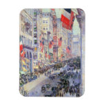 Up the Avenue from 34th Street, May 1917 by Hassam Flexible Magnets