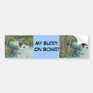 Up the Creek ~ Australian Shepherd & Cowboy gifts Bumper Sticker