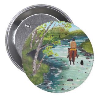 Up the Creek ~ Australian Shepherd & Cowboy gifts Pinback Button