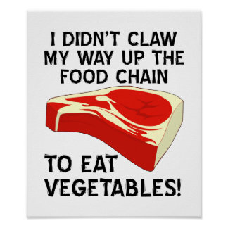 Up The Food Chain Funny Poster