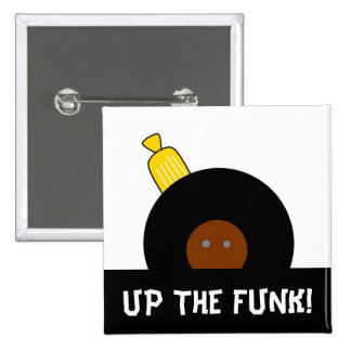 Up The Funk Stylized Afro Man Button