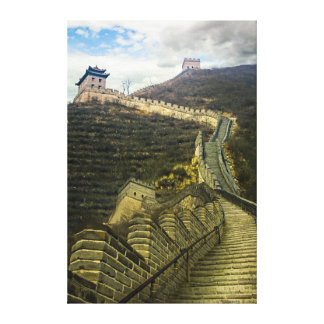 Up the Great Wall Gallery Wrapped Canvas