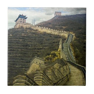 Up the Great Wall Ceramic Tile