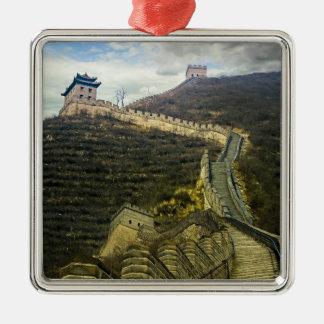 Up the Great Wall Metal Ornament