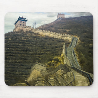Up the Great Wall Mouse Pads