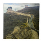 Up the Great Wall Small Square Tile