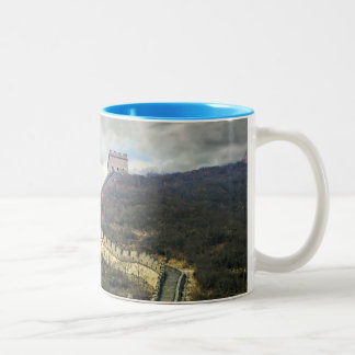 Up the Great Wall Two-Tone Coffee Mug