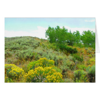 Up the hill,grand teton national park. greeting card