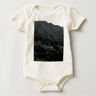 Up the mountain using cable cars baby bodysuit