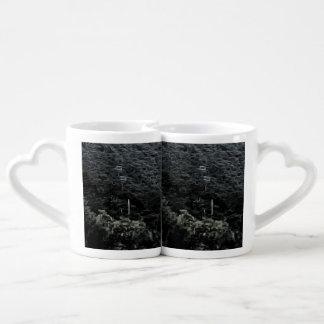 Up the mountain using cable cars coffee mug set
