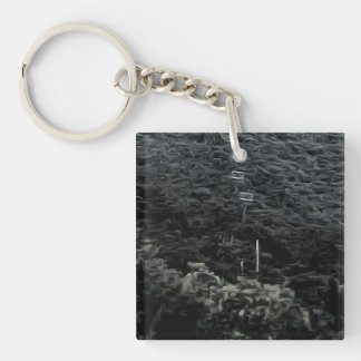 Up the mountain using cable cars keychain