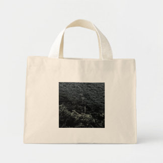 Up the mountain using cable cars mini tote bag