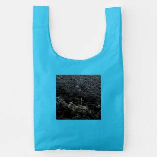 Up the mountain using cable cars reusable bag