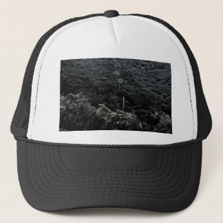 Up the mountain using cable cars trucker hat