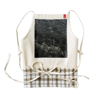 Up the mountain using cable cars zazzle HEART apron