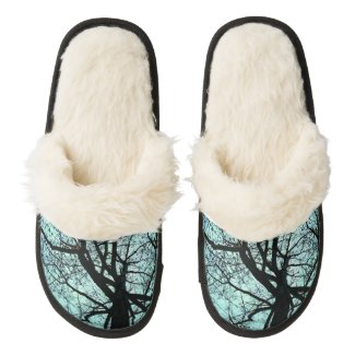 Up the Tree Pair of Fuzzy Slippers