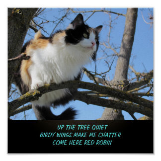Up the tree quiet poster