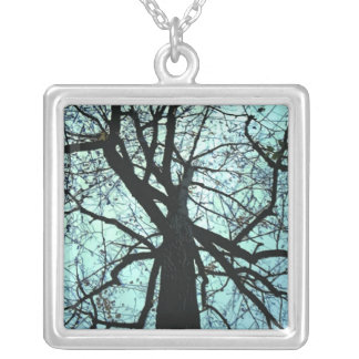 Up the Tree Silver Plated Necklace