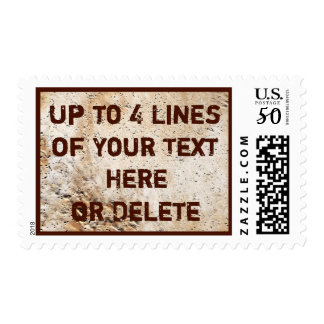 Up to 4 Lines of YOUR TEXT Rustic Postage Stamps