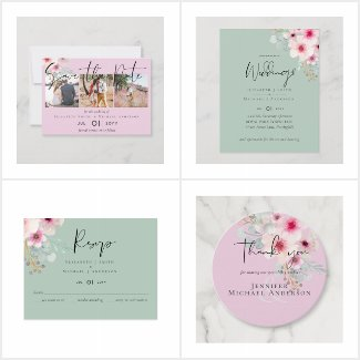 up to 50% off Blush Pink Sage Wedding Suite