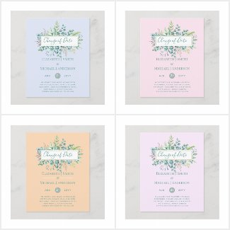 up to 50% OFF! Change of Date Event Greenery Cards