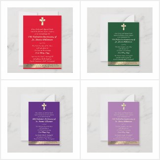 up to 50% off! Ordination Anniversary Invitations