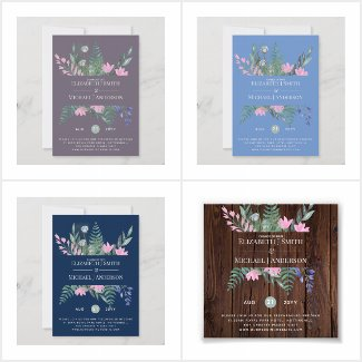 up to 50% Off!  Postponement Wildflower Cards