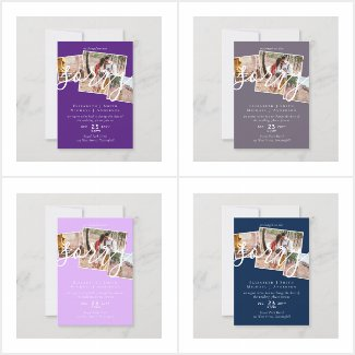 up to 50% OFF! Sorry Change of Plans Wedding Cards