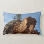 Up to Angels Landing in Zion National Park Throw Pillow