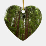 Up to Redwoods at Muir Woods National Monument Double-Sided Heart Ceramic Christmas Ornament