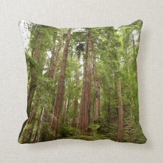 Up to Redwoods at Muir Woods National Monument Throw Pillows