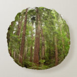 Up to Redwoods at Muir Woods National Monument Round Pillow