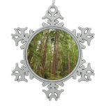 Up to Redwoods at Muir Woods National Monument Snowflake Pewter Christmas Ornament