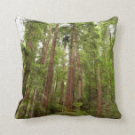 Up to Redwoods at Muir Woods National Monument Throw Pillow