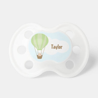 Up, Up and Away! Baby in Balloon {green} Pacifier