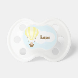 Up, Up and Away! Baby in Balloon {yellow} Pacifier
