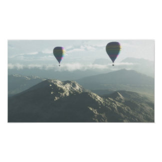 Up Up And Away Balloon ride poster