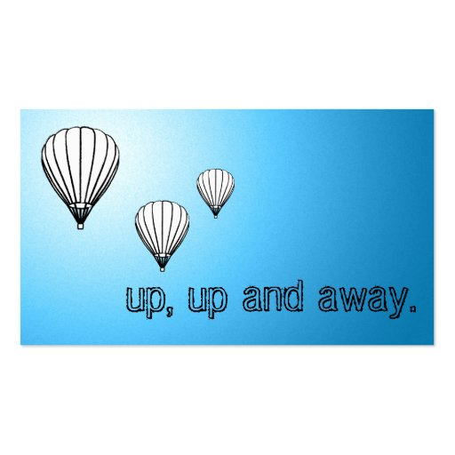 Up up and away balloons business card templates zazzle for Ups business cards templates