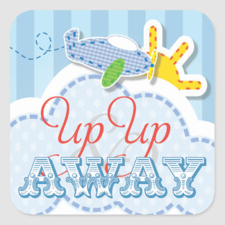 Up Up and Away Birthday party Sticker