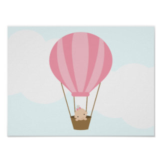 Up, Up and Away! Children's Wall Art Poster