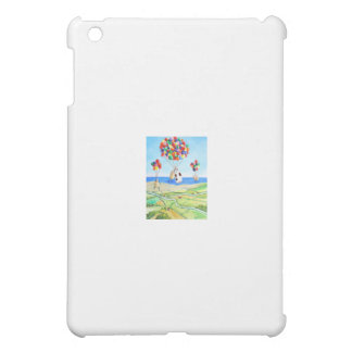 Up, up and away cow and sheep balloons poster iPad mini cover