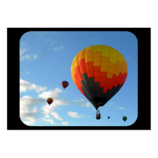 Up UP and away in beautiful colorfull balloons Business Card