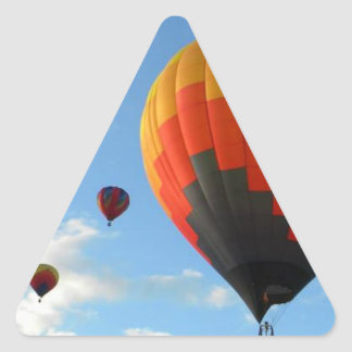 Up Up and away in my beautiful baloon lalala Triangle Sticker