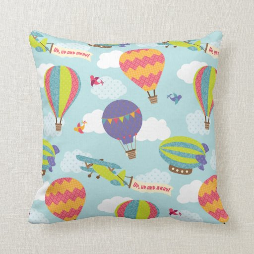 Should I Throw Away Old Pillows : Up, Up and Away Throw Pillow Zazzle
