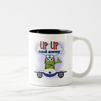 Up Up and Away Tshirts and Gifts Two-Tone Coffee Mug